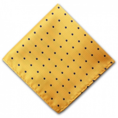 Yellow Spotted Pocket Square